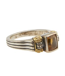 Lagos Lagos, Caviar, 18k, Citrine, Sterling, Silver, Ring, Size, 6.5, 19014