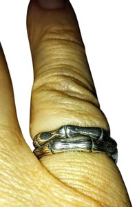 Other Sterling silver Bamboo Style Stacking Rings size 6