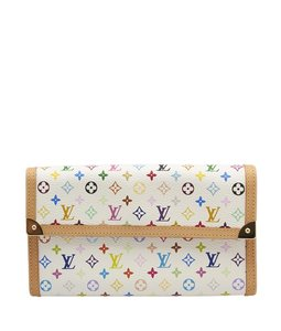 Louis Vuitton Louis Vuitton, Porte Tressor, Continental, Multicolore, Coated Canvas, Wallet