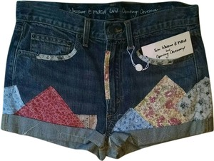 Erin Wasson X RVCA Patchwork Denim Shorts-Dark Rinse