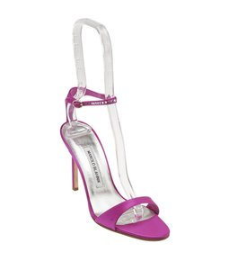 Manolo Blahnik Satin Pink Sandals