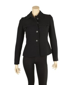 Prada Wool Four Pocket Black Blazer