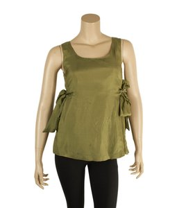 RED Valentino Silk Blow Top Green
