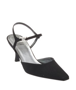 Stuart Weitzman Satin Black Pumps