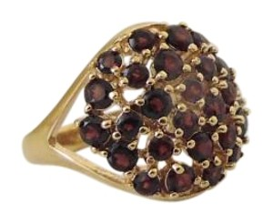 Technibond Technibond Red Garnet Cluster Ring
