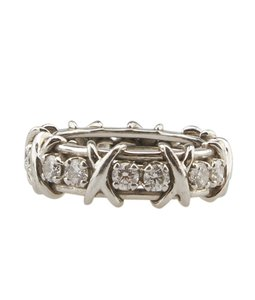 Tiffany & Co. Tiffany, Co, Schlumberger, Pt, 950, Diamond, 114ct, Ring, Size, 5.5, 80787