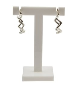 Tiffany & Co. Tiffany, Co, Sterling, Silver, Paloma, Picasso, Zig, Zag, Hoop, Earrings, 89630