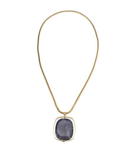 Tory Burch Tory Burch Large Spinning Pendant Necklace