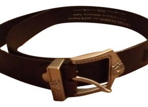 Versace Versace dark brown belt with medusa buckle