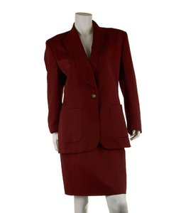 Valentino Valentino, Womens, Red, Wool, Blend, Skirt, Suit, Size, 42, 29684