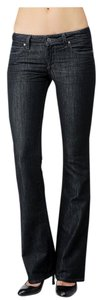 Paige Denim Dark Paige Paige Designer Boot Cut Jeans-Dark Rinse