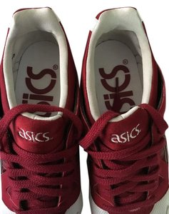 Asics White white and Maroon Athletic