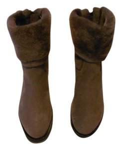 Aquatalia Shearling Lined Dual Design Weatherproof Made In Italy Brown Boots