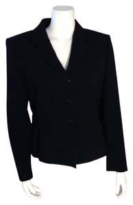 Anne Klein Size 8 Wool Black Blazer