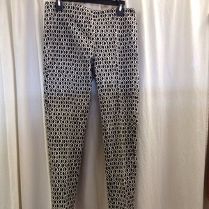 Elliott Lauren Crop Geometric Skinny Pants Black/White