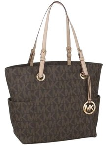 Michael Kors Mk Logo Signature 30s11ttt4b Tote in Brown