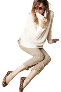 Madewell Cashmere Turtleneck Cream Rib Sweater