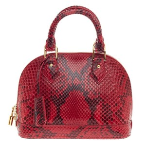 Louis Vuitton Python Tote in Red