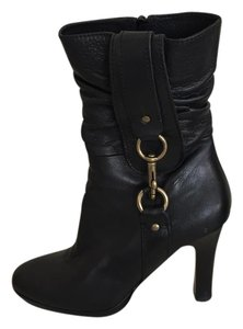 Coach Boot Gold Hardware Black Boots