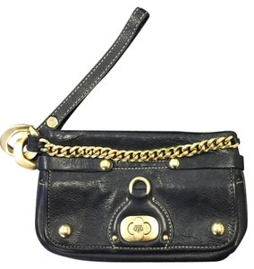 Juicy Couture Wristlet in Black & Gold