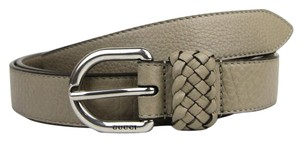 Gucci Beige Leather Wrap Belt with Orval Buckle 100/40 336828 1523