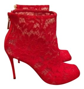 Dolce&Gabbana Red Boots