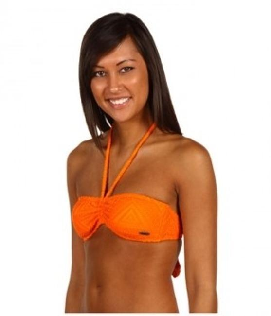 Roxy Roxy Native Sky Orange Crochet Bandeau Bikini