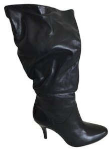 Steve Madden Leather Midcalf Black Boots