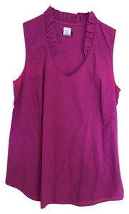 J.Crew Preppy Cotton Casual Sleeveless V-neck Top Pink