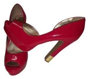 BCBG Paris Platform Red patent leather with gold heel Platforms