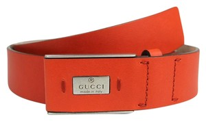 Gucci Leather Trademark Belt with Hidden Buckle 80/32 353345 6516