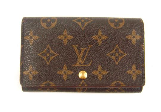 louis vuitton porte monnaie tresor monogram canvas leather clutch wallet tradesy. Black Bedroom Furniture Sets. Home Design Ideas