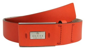 Gucci Leather Trademark Belt with Hidden Buckle 95/38 353345 6516