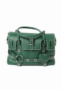 Luella Tote Handbag Leather Satchel in Green