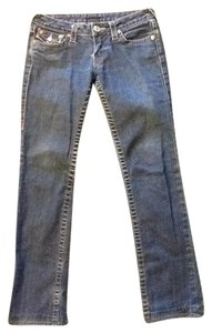 True Religion Denim Straight Leg Jeans-Medium Wash
