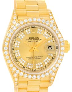 Rolex Rolex President Datejust 18k Yellow Gold Diamond Ladies Watch 69188