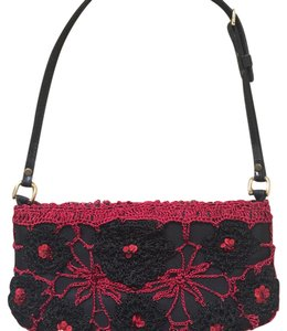 Chan Luu Black & Red/Burgundy Clutch