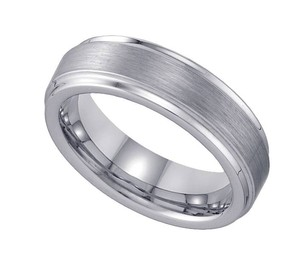 Geraud Tungsten Wedding Band Men's Comfort Fit 6mm Sz 7