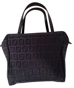Fendi Cloth Evening Satchel in Black