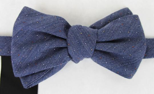 Gucci Blue W Wool Silk Periwinkle W/Colorful Dotted Pattern 388173 4500 Tie/Bowtie Image 1