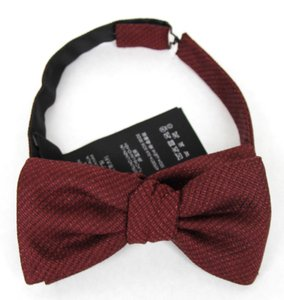 Gucci New Gucci Burgundy Linen Silk Bow Tie 369806 6000