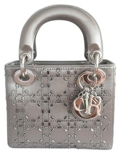 Dior Lady Lady Mini Mini Swarovski Crystal Lady Satin Cross Body Bag