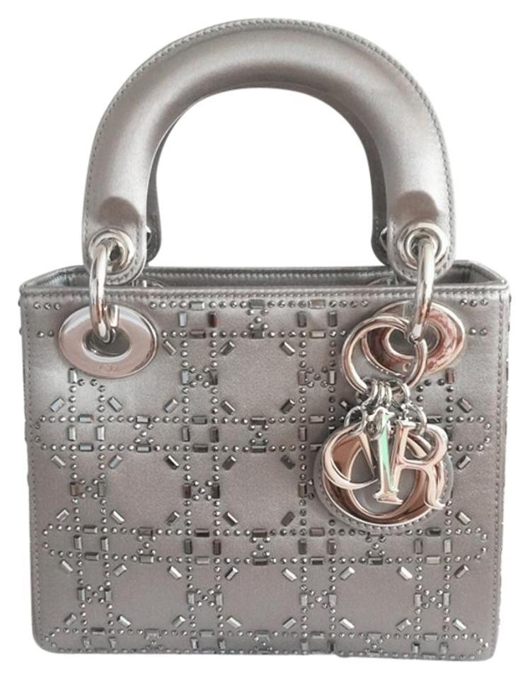 70433795c16 Dior Lady Mini Mini Swarovski Crystal Lady Satin Cross Body Bag Image 0 ...