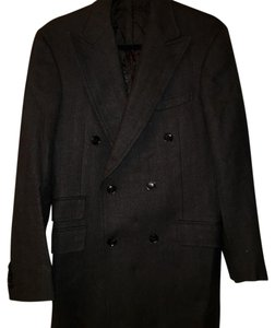 Black Lapel Pea Coat