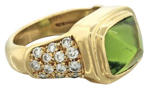 Tiffany & Co. Tiffany & Co. 18k Yellow Gold 1.00ct Diamond & 3.00ct Peridot Ring