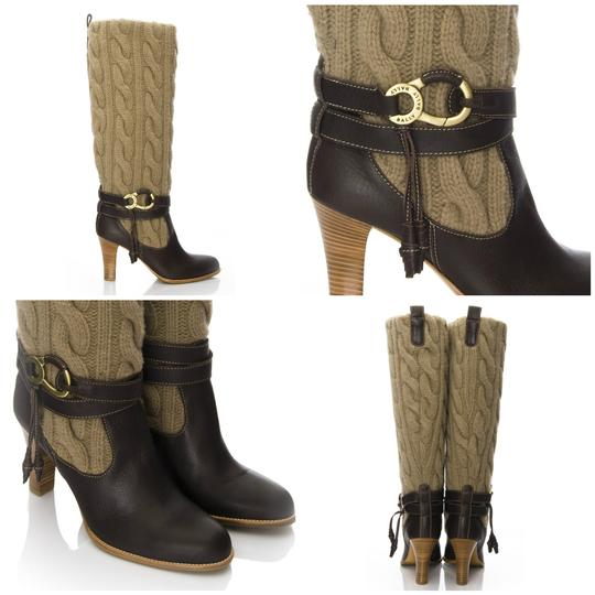 Preload https://img-static.tradesy.com/item/19828376/bally-wool-cable-knit-leather-bootsbooties-size-eu-405-approx-us-105-regular-m-b-0-22-540-540.jpg