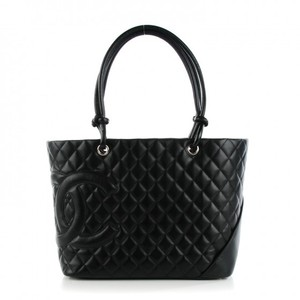 Chanel Calfskin Quilted Tote in Black
