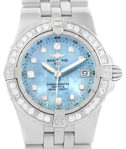 Breitling Breitling Starliner Mother of Pearl Diamond Watch A71340 Box Papers