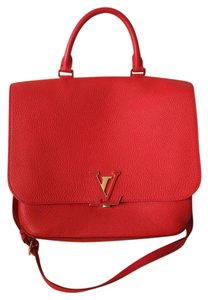Louis Vuitton Leather Red Messenger Bag