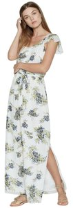 Blue and yellow floral Maxi Dress by Joie